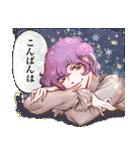昔の少女漫画っぽいスタンプ(冬服仕様)(個別スタンプ:04)