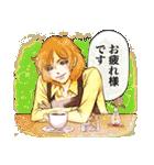 昔の少女漫画っぽいスタンプ(冬服仕様)(個別スタンプ:07)