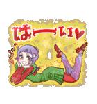 昔の少女漫画っぽいスタンプ(冬服仕様)(個別スタンプ:09)
