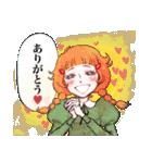 昔の少女漫画っぽいスタンプ(冬服仕様)(個別スタンプ:17)