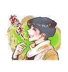 昔の少女漫画っぽいスタンプ(冬服仕様)(個別スタンプ:26)