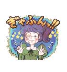 昔の少女漫画っぽいスタンプ(冬服仕様)(個別スタンプ:27)