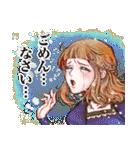 昔の少女漫画っぽいスタンプ(冬服仕様)(個別スタンプ:31)