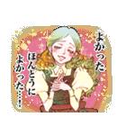 昔の少女漫画っぽいスタンプ(冬服仕様)(個別スタンプ:34)
