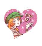 昔の少女漫画っぽいスタンプ(冬服仕様)(個別スタンプ:40)