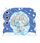 おかっぱ女子【冬でか文字】(個別スタンプ:24)
