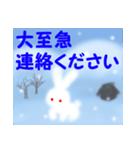 雪うさぎ(基本セット)(個別スタンプ:40)