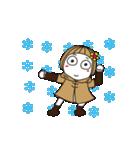 ▶︎動く!はな子✿冬だよ。(個別スタンプ:16)
