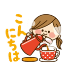 かわいい主婦の1日【冬でもあったか編】(個別スタンプ:06)