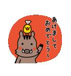 2019年賀スタンプ【亥年】(個別スタンプ:11)