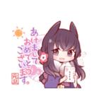 うさみみ少女(冬)(個別スタンプ:17)
