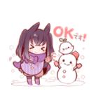 うさみみ少女(冬)(個別スタンプ:39)