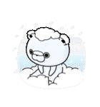 うさぎ&くま100% 冬のパステル(個別スタンプ:05)