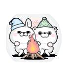 うさぎ&くま100% 冬のパステル(個別スタンプ:16)