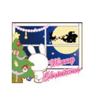 動く☆Xmas&2019お正月のラブラブうさぎ(個別スタンプ:05)