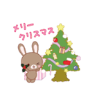 動く☆Xmas&2019お正月のラブラブうさぎ(個別スタンプ:06)