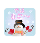 大人のクリスマス 冬の日常とお正月(個別スタンプ:35)