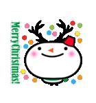 冬用あいさつ『シンプル雪だるま』編(個別スタンプ:12)