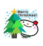 冬用あいさつ『シンプル雪だるま』編(個別スタンプ:14)
