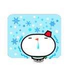 冬用あいさつ『シンプル雪だるま』編(個別スタンプ:35)