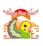 NEW YEAR 2019〜セキセイインコ(個別スタンプ:01)