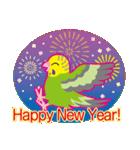 NEW YEAR 2019〜セキセイインコ(個別スタンプ:04)