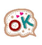 【デカ文字】手作り小物風・日常&あいづち(個別スタンプ:01)