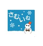 雪が積もると文字が出て絵が変わります。(個別スタンプ:15)