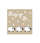 雪が積もると文字が出て絵が変わります。(個別スタンプ:18)