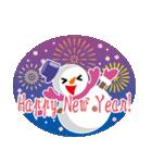 NEW YEAR 2019〜尖り鼻の雪だるま(個別スタンプ:07)