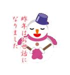 NEW YEAR 2019〜尖り鼻の雪だるま(個別スタンプ:12)