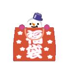 NEW YEAR 2019〜尖り鼻の雪だるま(個別スタンプ:13)
