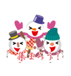 NEW YEAR 2019〜尖り鼻の雪だるま(個別スタンプ:14)