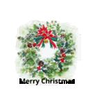 クリスマス(水彩)(個別スタンプ:09)