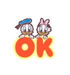 ドナルド&デイジー(デカ文字)(個別スタンプ:01)