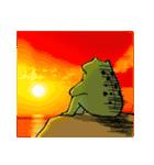 ほんのり鳥獣戯画〜カエルの日常編〜(個別スタンプ:40)