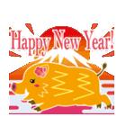 2019〜希望の色、黄色のイノシシスタンプ2(個別スタンプ:01)
