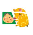 2019〜希望の色、黄色のイノシシスタンプ2(個別スタンプ:03)