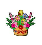 お花が動く!大人のたしなみ-年末年始編-(個別スタンプ:14)