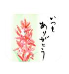 花の絵と年末年始のお礼・お祝い・誕生日(個別スタンプ:27)