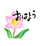 花の絵と年末年始のお礼・お祝い・誕生日(個別スタンプ:34)