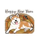 秋田犬の年末年始スタンプ(個別スタンプ:3)