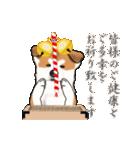 秋田犬の年末年始スタンプ(個別スタンプ:9)