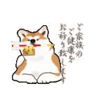 秋田犬の年末年始スタンプ(個別スタンプ:10)