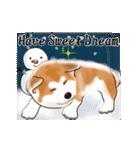 秋田犬の年末年始スタンプ(個別スタンプ:12)