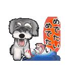 シュナウザー犬の年末年始スタンプ(個別スタンプ:5)