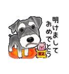 シュナウザー犬の年末年始スタンプ(個別スタンプ:9)