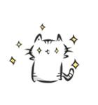 雑すぎる墨筆ねこ3【年末年始ご挨拶】(個別スタンプ:25)