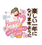 ナチュラルガール♥【年末年始&春】(個別スタンプ:25)
