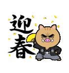 目ヂカラ☆いのしし【2019年お正月・亥年】(個別スタンプ:03)